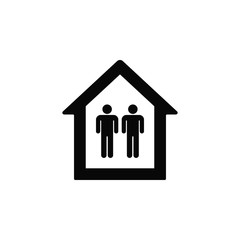 Mans in a house, icon. Element of simple icon for websites, web design, mobile app, infographics. Thick line icon for website design and development, app development