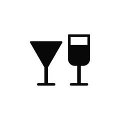 Wine glasses, icon. Element of simple icon for websites, web design, mobile app, infographics. Thick line icon for website design and development, app development