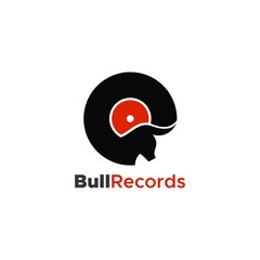 bull records logo unique