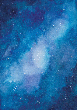 abstract blue watercolor space background