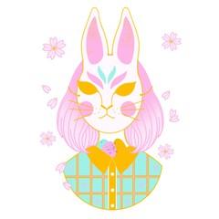 Japanese Rabbit Mask Easter Bunny Girl