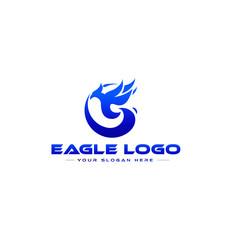 Eagle silhouette logo vector
