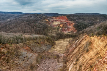 Abandoned Rock Quarry in Fruska Gora from Serbia