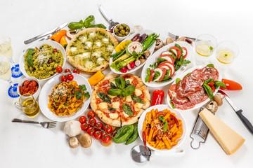 典型的なイタリア料理 Typical Italian cuisine