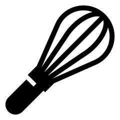 Kitchen Whisk Vector Icon