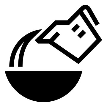 Measuring Cup Pouring Liquid Into Bowl Icon