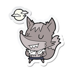 sticker of a cartoon werewolf
