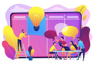 Managers workshop concept vector illustration.
