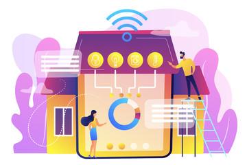 Smart home 2.0 concept vector illustration.