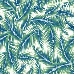 Foto op Canvas Tropische Bladeren Tropical plant illustration pattern