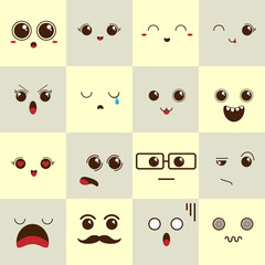 Smile icons. Happy, sad and wink faces symbol. Laughing lol smiley signs.