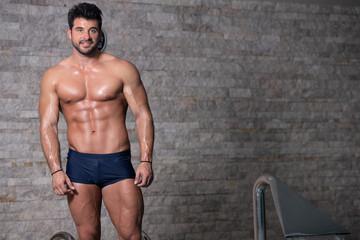Portrait Of A Muscular Sexy Man In Underwear