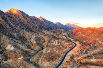 Canvas Prints Cappuccino Road through the Zagros Mountains in South Iran taken in January 2019 taken in hdr