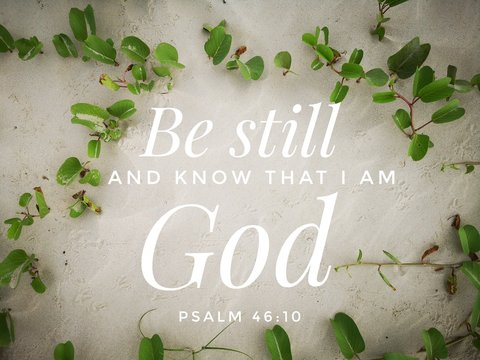 Be still with bible verse design for Christianity with sandy beach background.