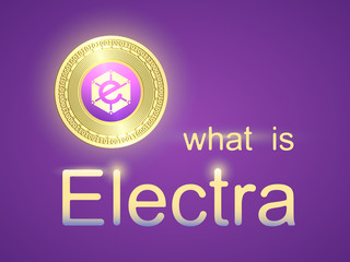 Banner with gold coin electra