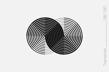 Universal Modern Halftone Geometric Shape. Vector Classical Design Element.