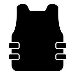 Bullet-proof vest flak jacket icon black color vector illustration flat style image