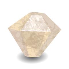 Diamond stone. Precious stone, gemstone, mineral. Translucent crystal.