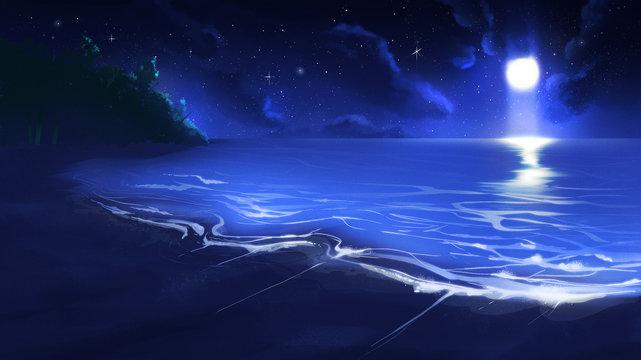 Beach in Night