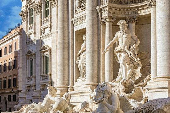 Ancient Fontanna di Trevi in Rome