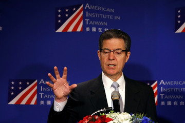 "U.S. Ambassador for religious freedom, Sam Brownback speaks during ""A Civil Society Dialogue on Securing Religious Freedom in the Indo-Pacific Region"" forum in Taipei"