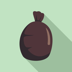 Garbage sack icon. Flat illustration of garbage sack vector icon for web design