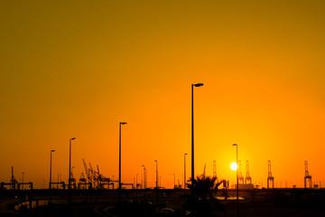 sunset in jeddah Cornish beach