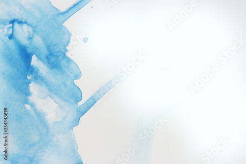 blue abstract watercolor background design  Color theory
