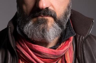Barba con pizzetto bianco - dettaglio
