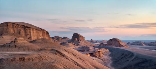 Dasht-e Lut Desert in eastern Iran taken in January 2019 taken in hdr