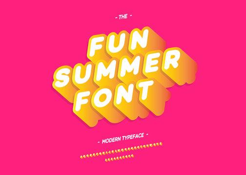 Vector fun summer font