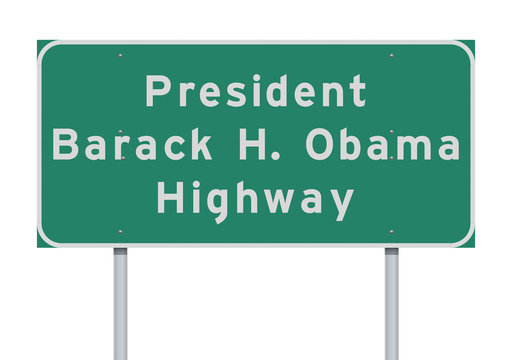 President Barack Obama Highway road sign