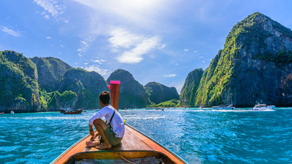 Wall Mural - Amazing landscape with Maya Bay on Phi Phi Islands, Thailand