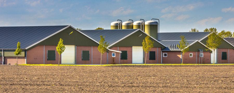 Large modern barns crop