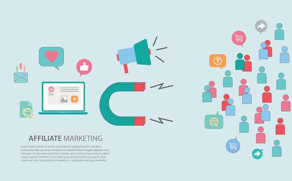 Affilieate - Inbound Marketing Strategy Concept Web Header Banner