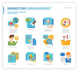 Marketing Management icon set
