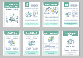 After school program brochure template layout