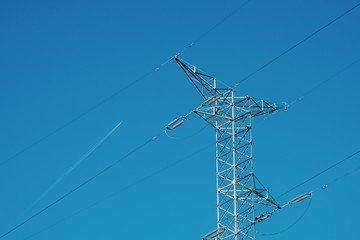 electricity tower and sky