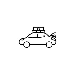 car, taxi, overweight icon. Element of overweight culture. Thin icon for website design and development, app development. Premium icon