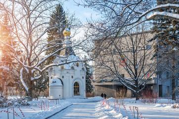 Спасская часовня и Дом Советов Spasskaya Chapel and the House of Soviets