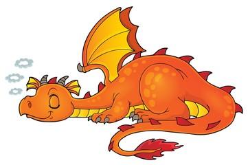 Wall Murals For Kids Sleeping dragon theme image 1