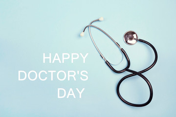 Doctor's day greeting card.