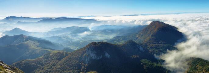 Urkiola natural park landscape in Spain