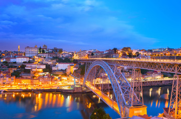 Wall Mural - Dom Luis Bridge, Porto skyline