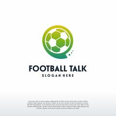 Football Talk logo designs vector, Soccer Discuss logo