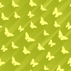 Seamless abstract background with butterflies.