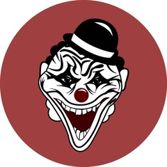 scary Halloween mask, clown mask.vector image