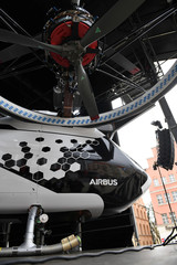 "A prototype of the electric air-taxi ""CityAirbus\"