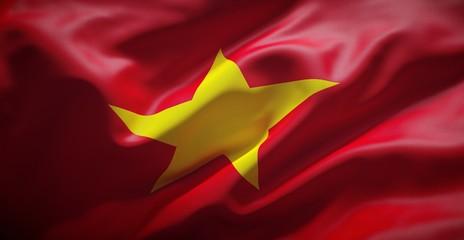 Vietnamese flag. Vietnam.