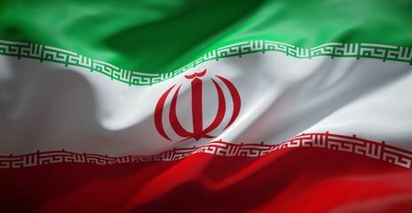 Iranian flag. Iran.
